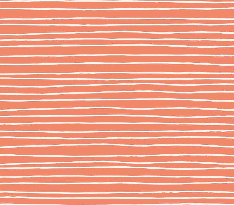 coral stripes square